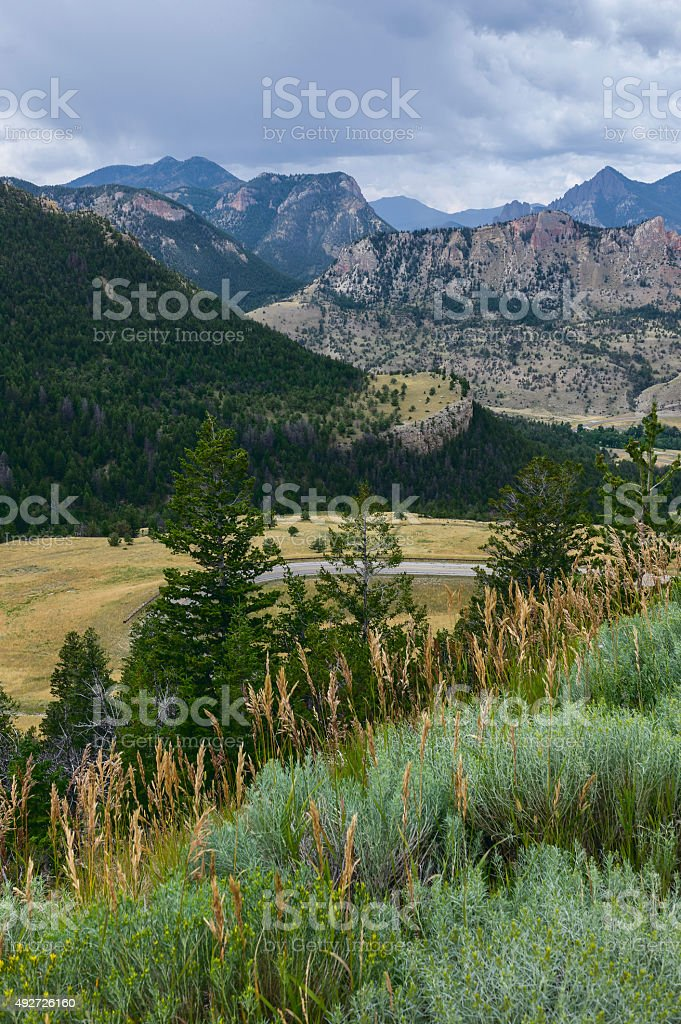 Bear Tooth Mountains, Montana, USA. stock photo