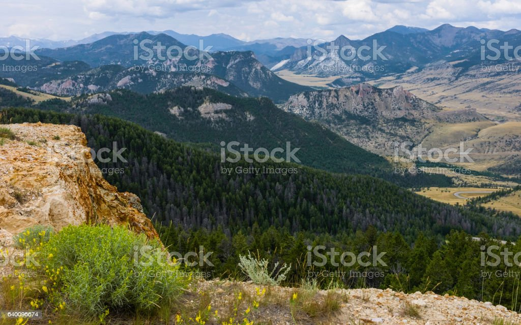 Bear Tooth Mountans, Montana, USA. stock photo
