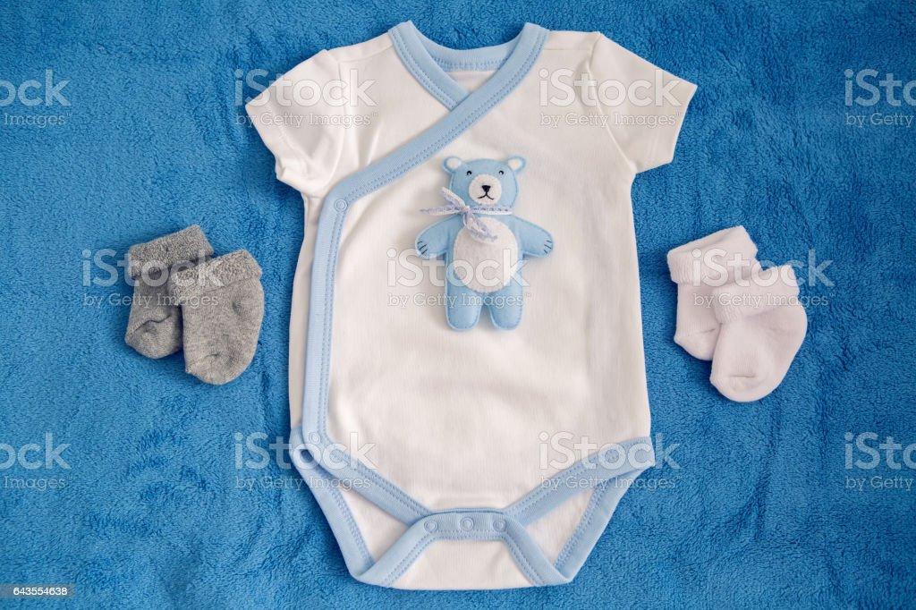 bear toy lying on white stock photo