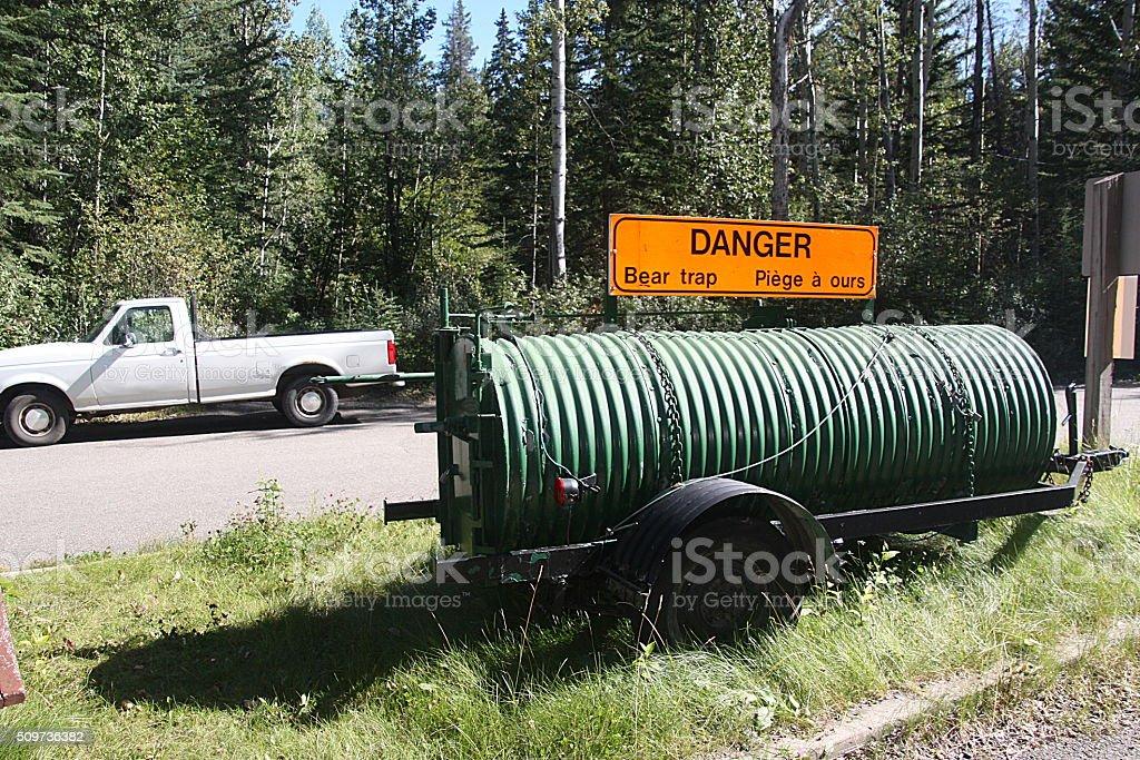 Bear Trap - Canadian Rockies stock photo