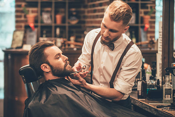 beard grooming. - beard stock pictures, royalty-free photos & images