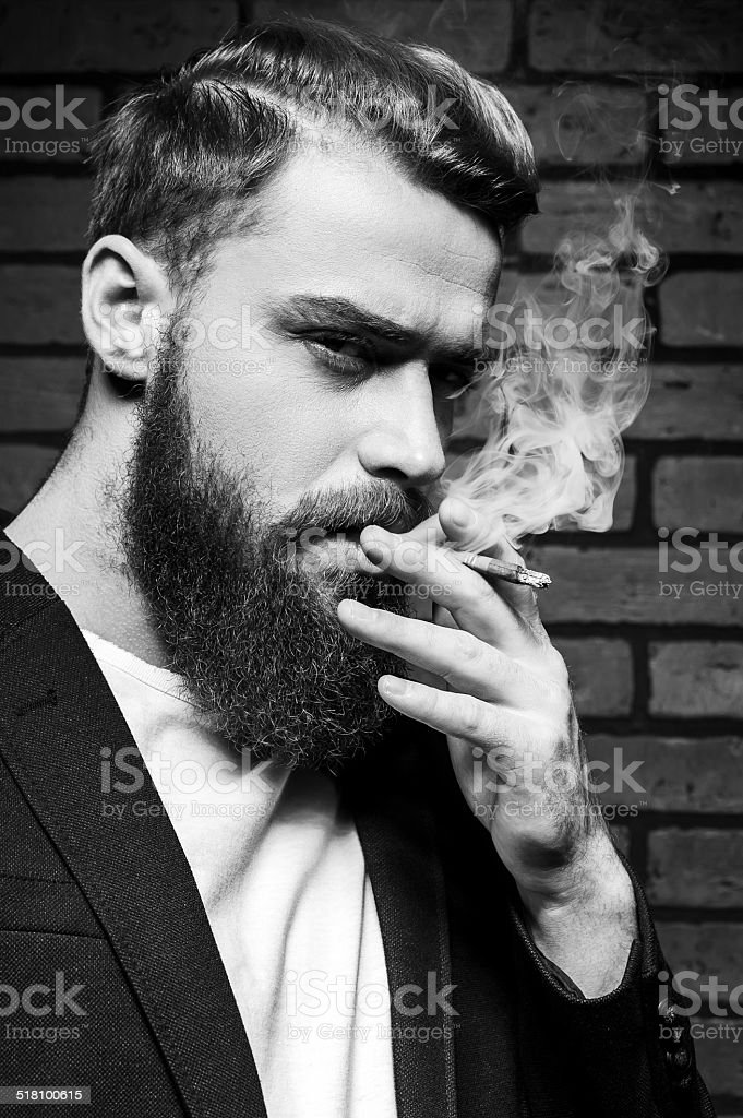 Sexy smoking men
