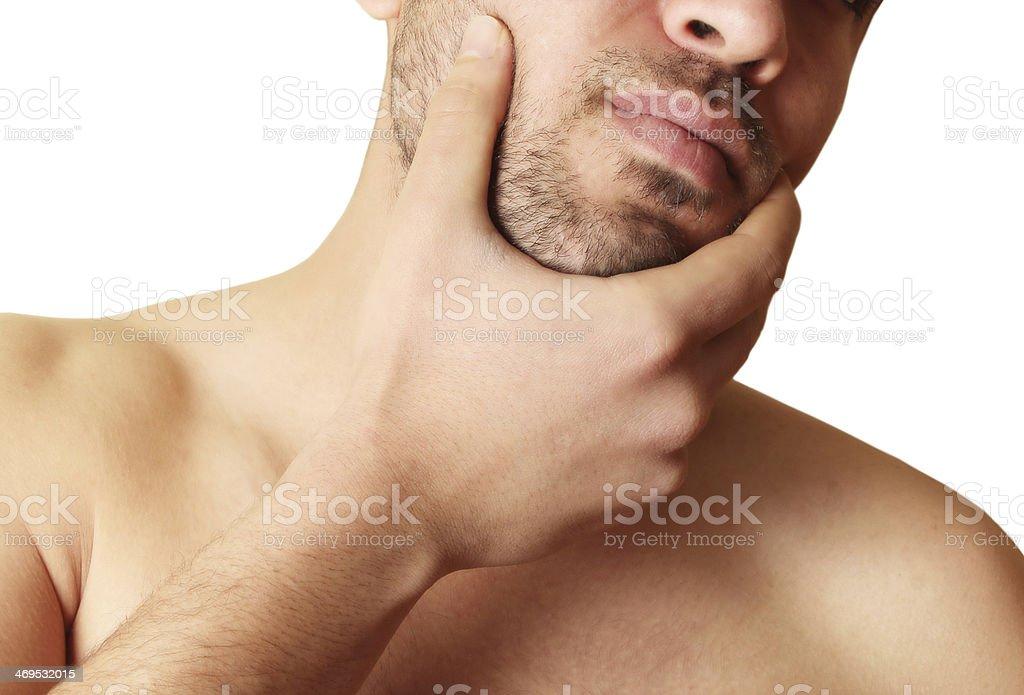 Bearded face stock photo