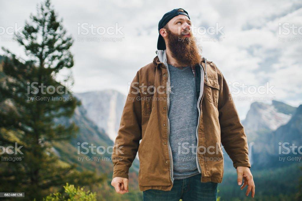ceket Yosemite, sakallı adam royalty-free stock photo