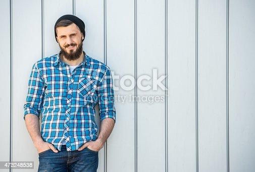 istock Bearded man 473248538