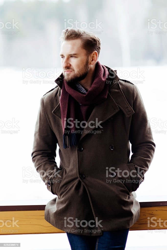 bearded man stock photo