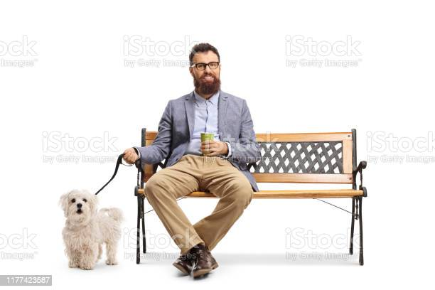 Bearded man sitting on a bench with a cup of take away coffee and a picture id1177423587?b=1&k=6&m=1177423587&s=612x612&h=6vjlukk 04dvur57aa5vs4ah3j8ycazygm9ygmh3fci=