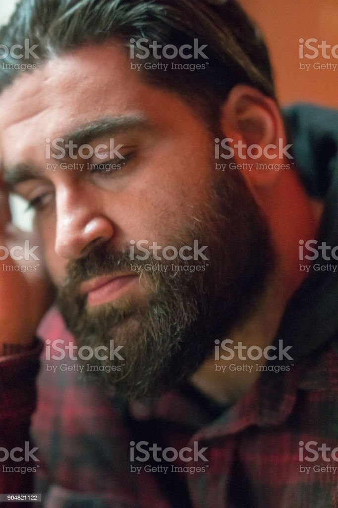 Bearded Middle Eastern guy royalty-free stock photo