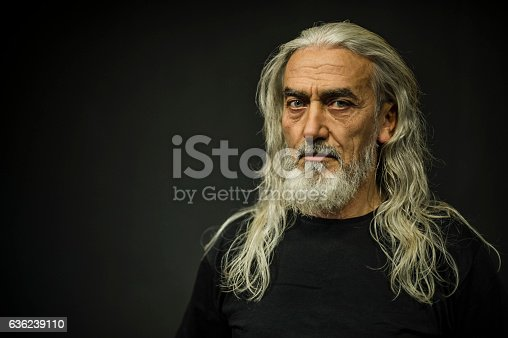 Bearded Senior Man Portrait, Age:55