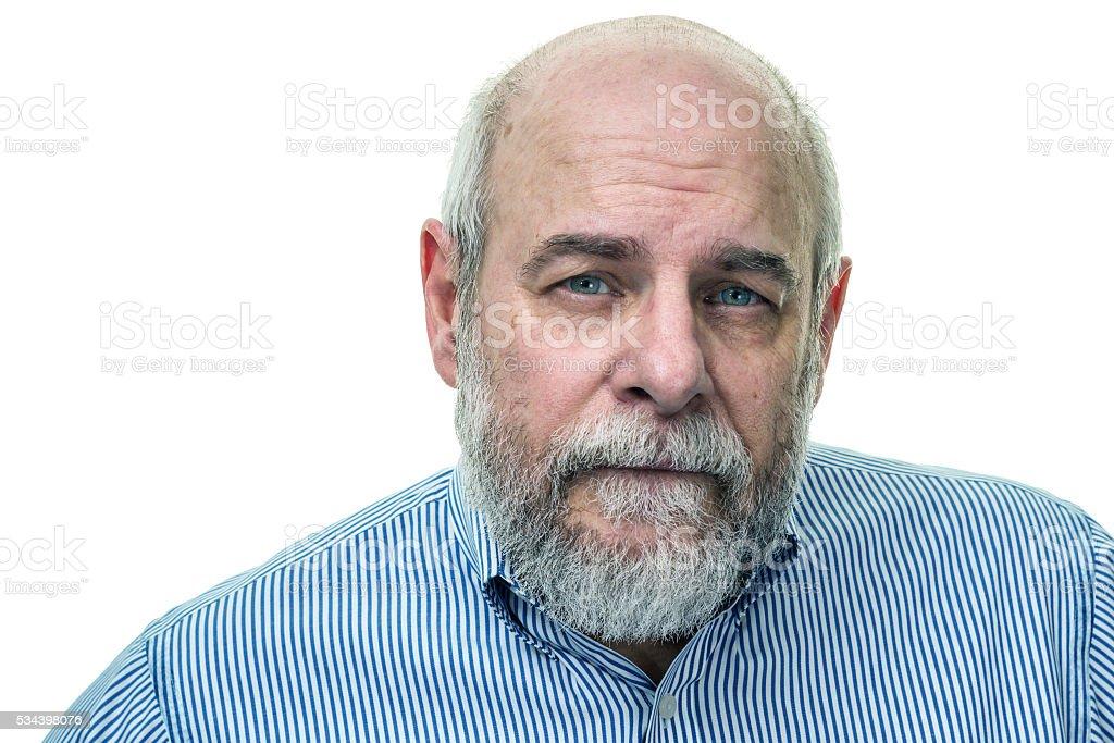 Bearded Senior Man Portrait stock photo