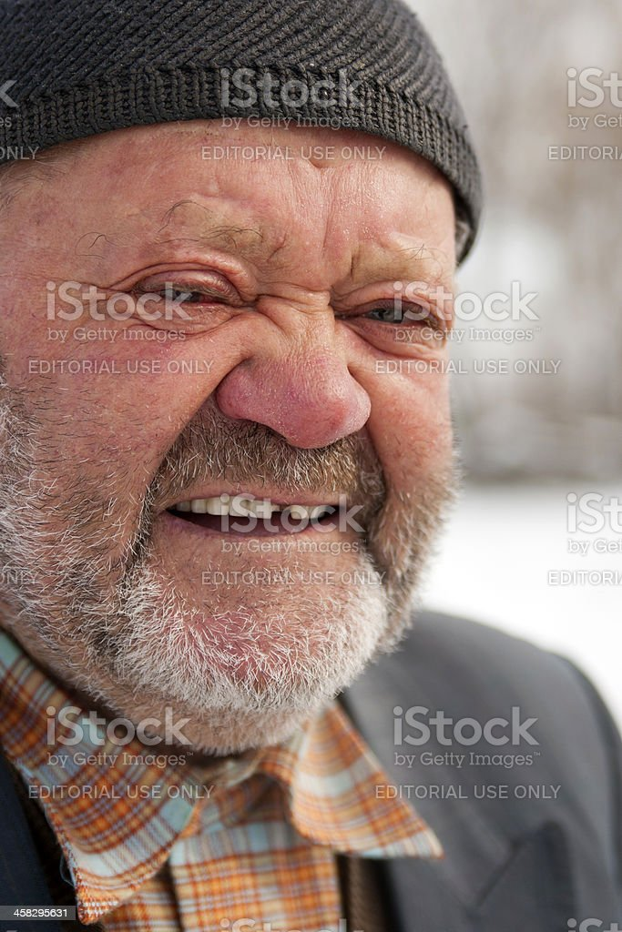 Bearded Senior Turk man looking at the camera royalty-free stock photo