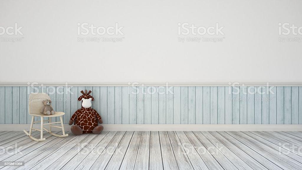 Beardoll In Kid Room And Wall Decorationinterior Design 3d ... on