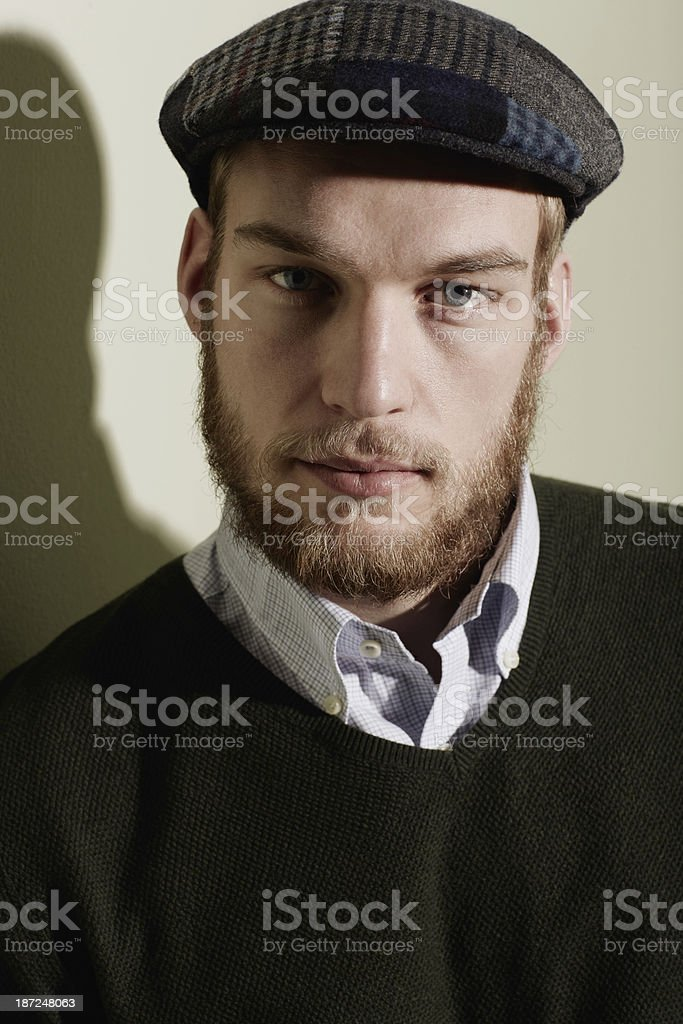 Beards compliment winter trends royalty-free stock photo