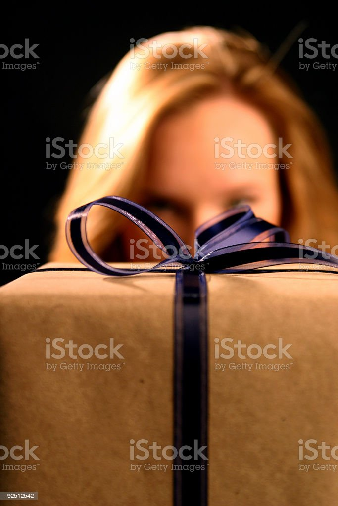 bearing a gift royalty-free stock photo