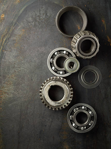Bearing and gear stock photo