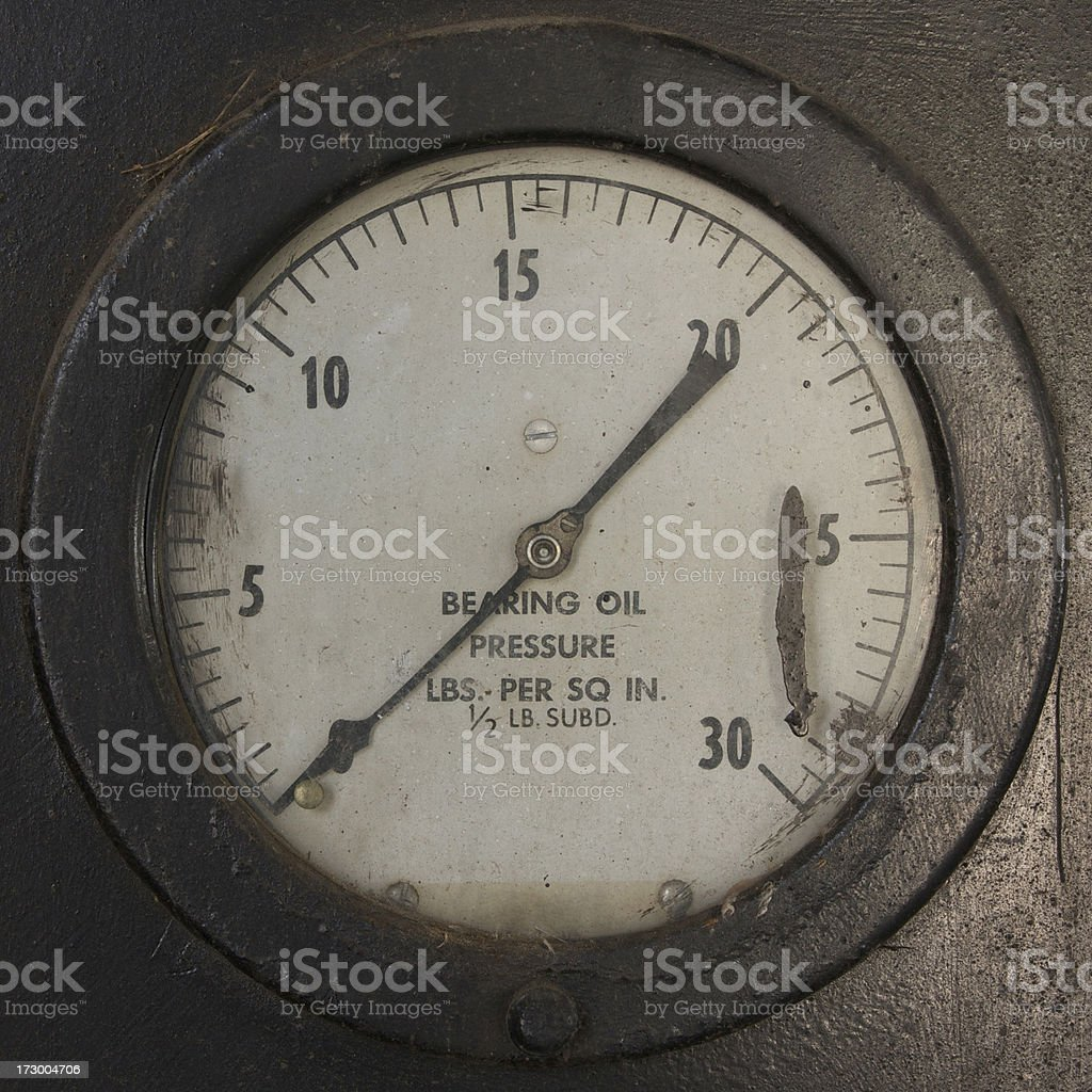 bearing oil pressure gauge stock photo