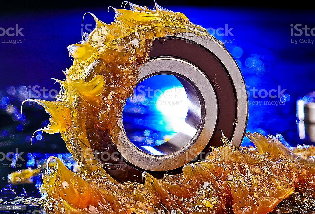 Bearing with Grease stock photo