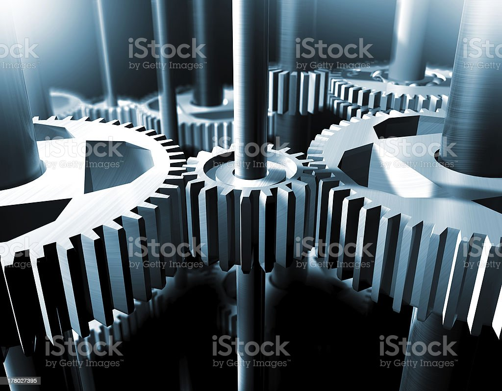 bearings and gear royalty-free stock photo