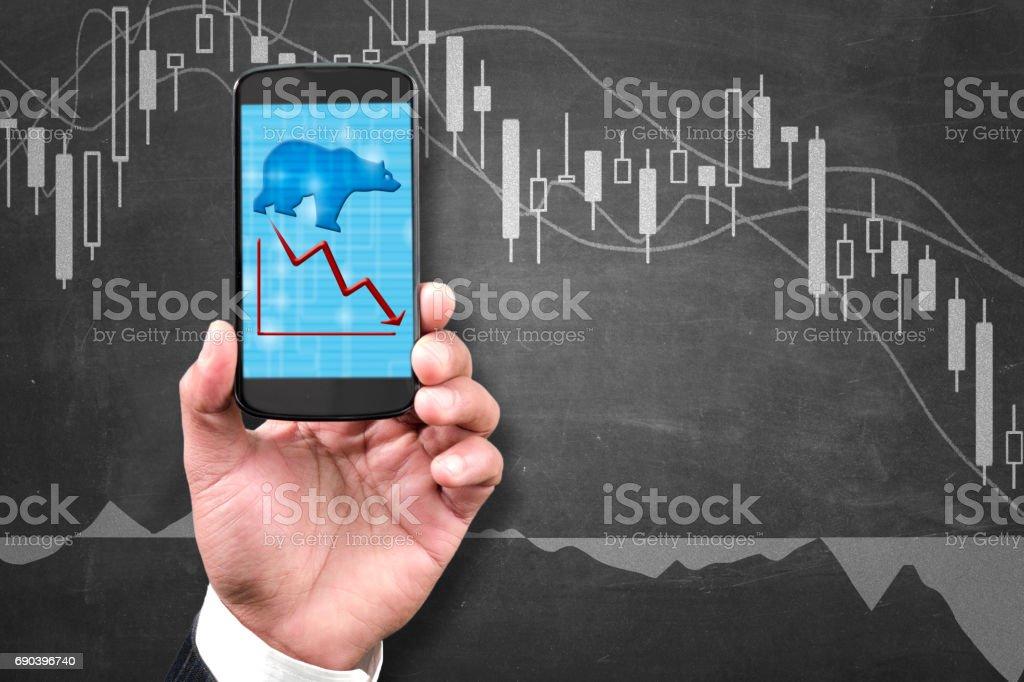 Bearish market stock photo