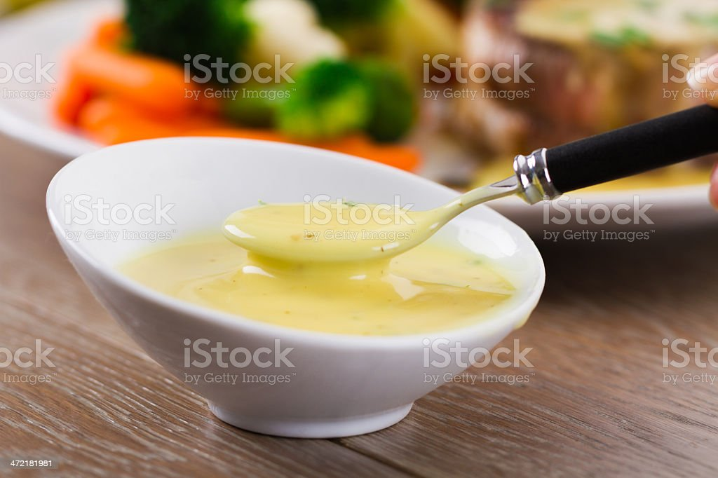 Bearnaise sauce stock photo