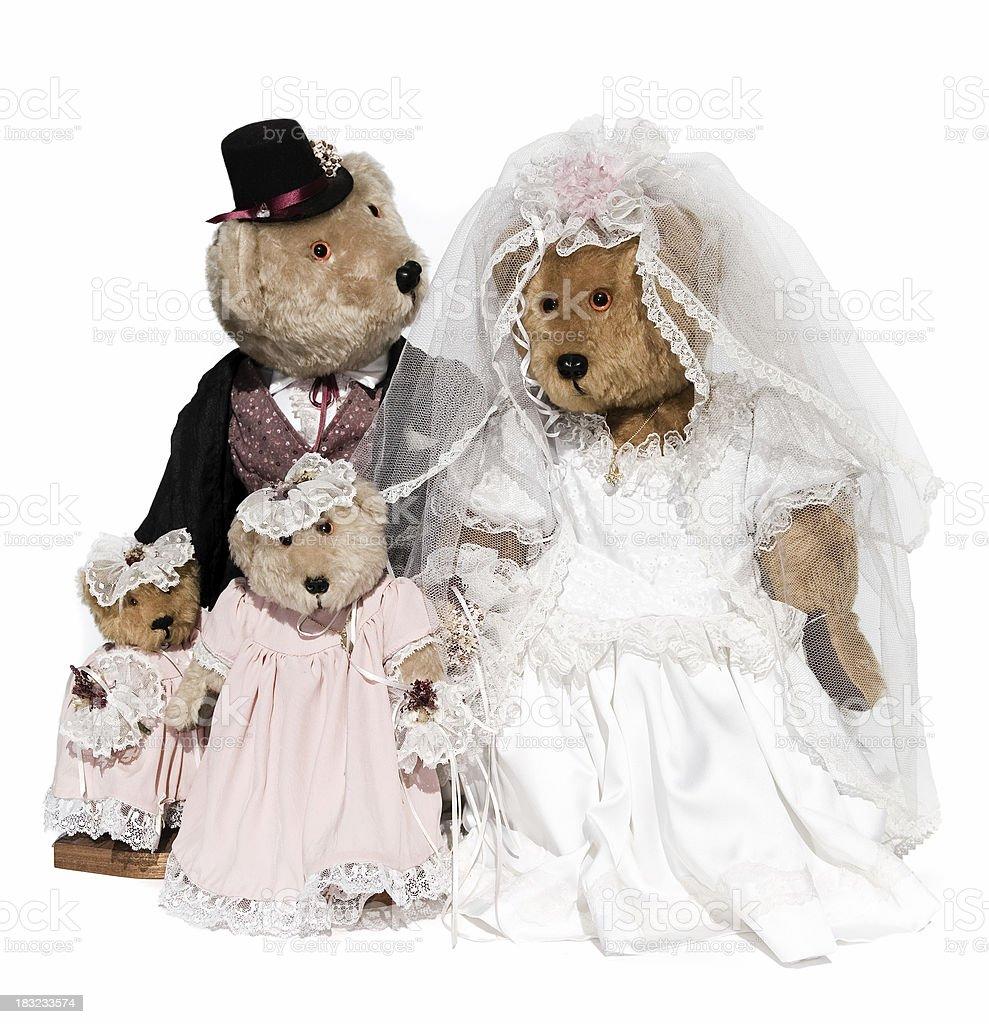 Bears Wedding royalty-free stock photo