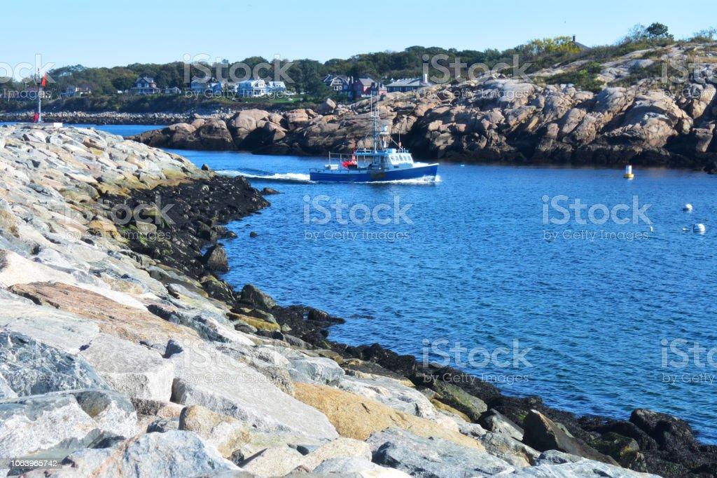 Bearskin Neck jetty, Rockport Massachusetts, USA (4) stock photo