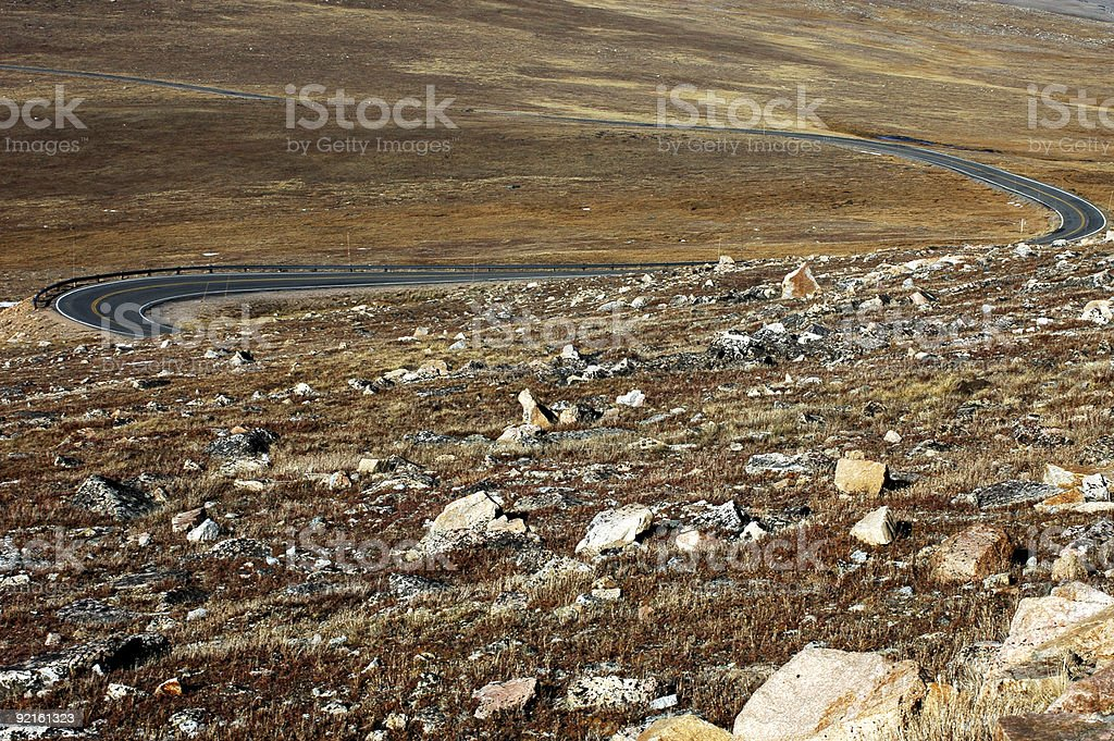 Beartooth Highway, Montana stock photo