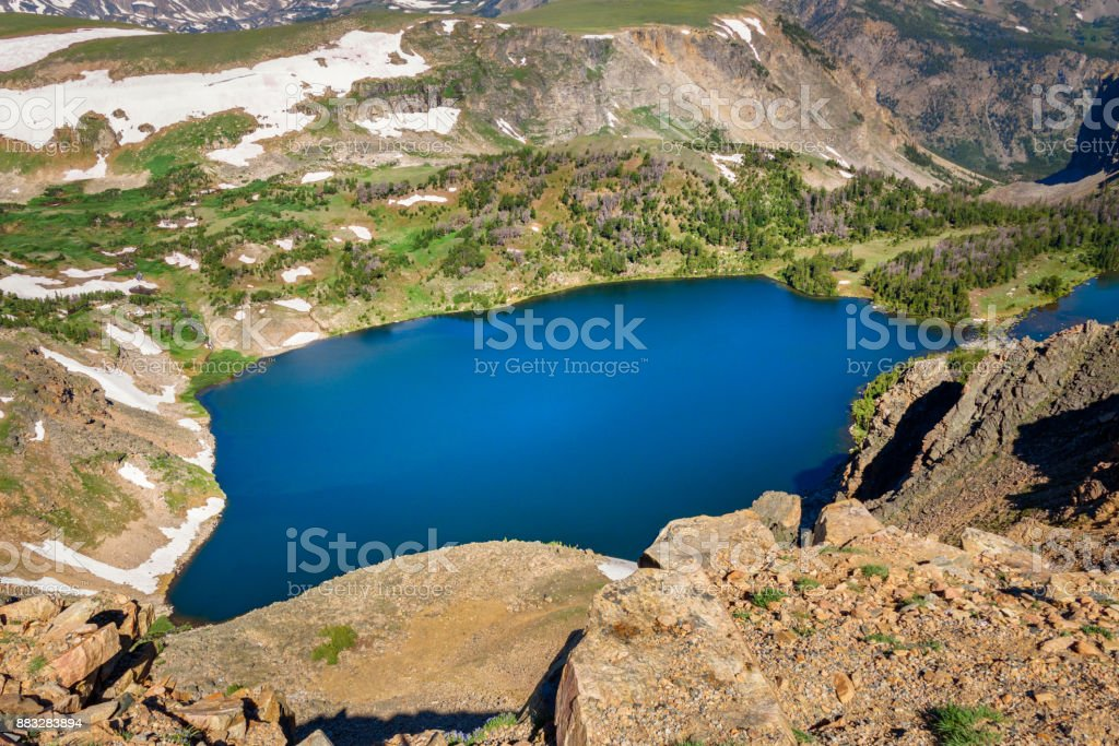 Beartooth Highway, Twin Lakes. Wyoming, USA. stock photo