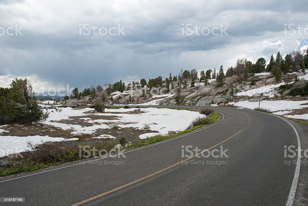 Beartooth highway, Wyoming, USA stock photo