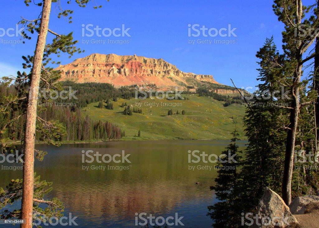 Beartooth Lake, Beartooth Higway, Wyoming stock photo