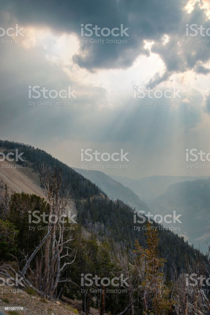 Beartooth Mountains Absaroka Range stock photo