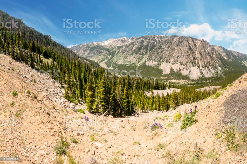 Beartooth (Bear Tooth) Mountains Yellowstone National Park stock photo