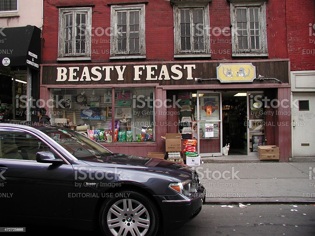 Beasty Feast pet store in Greenwich Village NYC 2003 stock photo