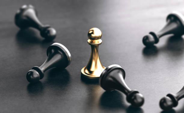 Schlagen Sie Konkurrenten. Marketingstrategiekonzept – Foto