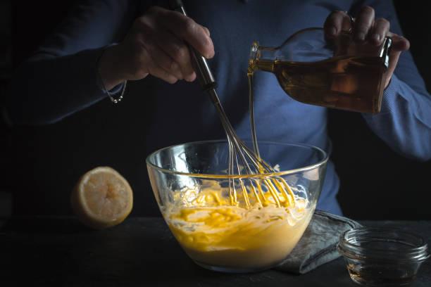 Eigelb mit Senf und Olivenöl – Foto