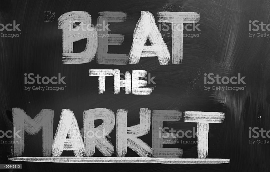 Beat The Market Concept royalty-free stock photo
