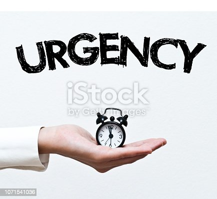 istock URGENCY - Beat the time /  White background concept (Click for more) 1071541036