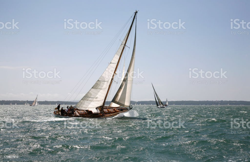 Beat to windward royalty-free stock photo