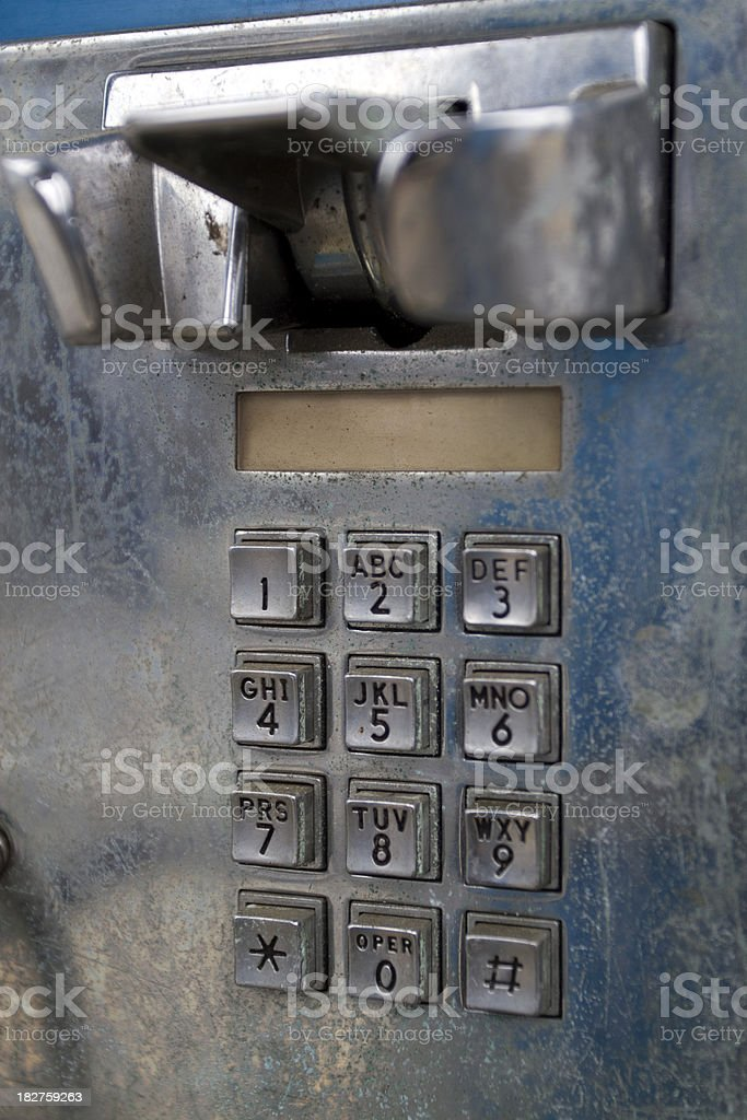 Beat Up Old Phone royalty-free stock photo