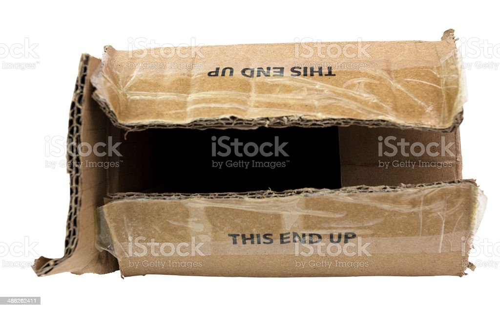 Beat Up This End Up Box royalty-free stock photo