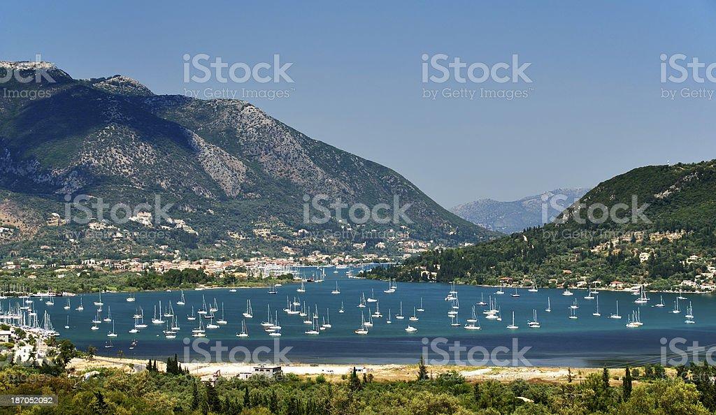 Beatiful bay of Nydri, Lefkada Island, Greece royalty-free stock photo