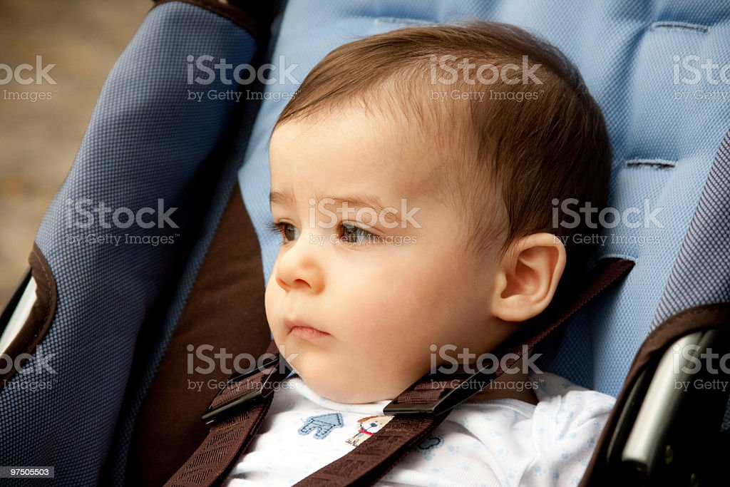 Beatiful boy on his stroller royalty-free stock photo