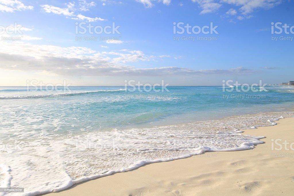 Beatiful paradise beach in Cancun stock photo