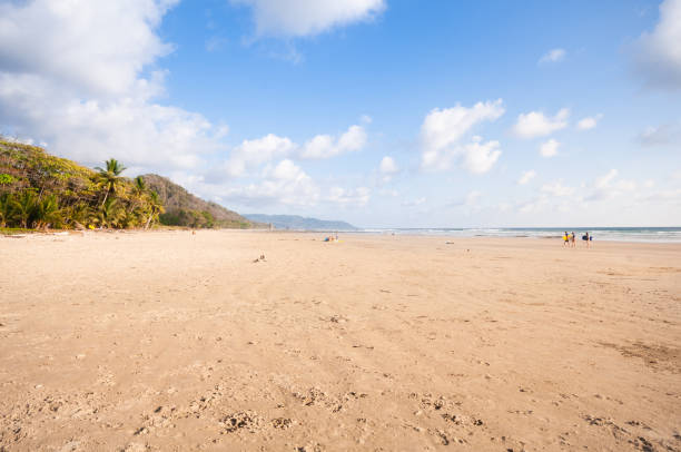 Beatiful tropical beach in Costa Rica - Pavones stock photo