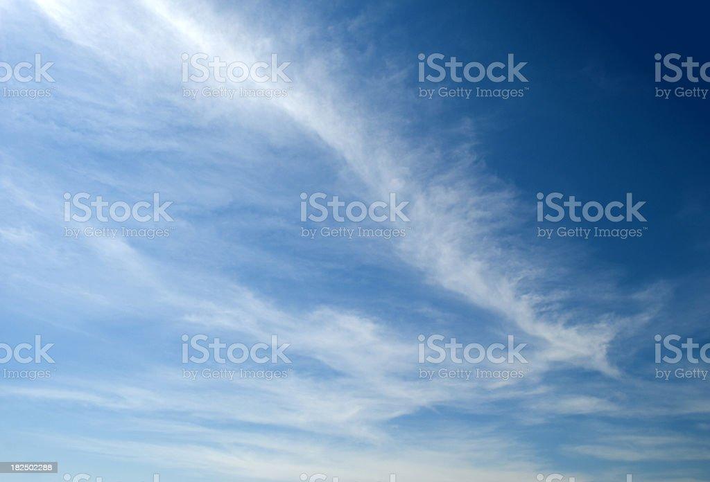 Beatiful Wispy Clouds - Sky Background stock photo