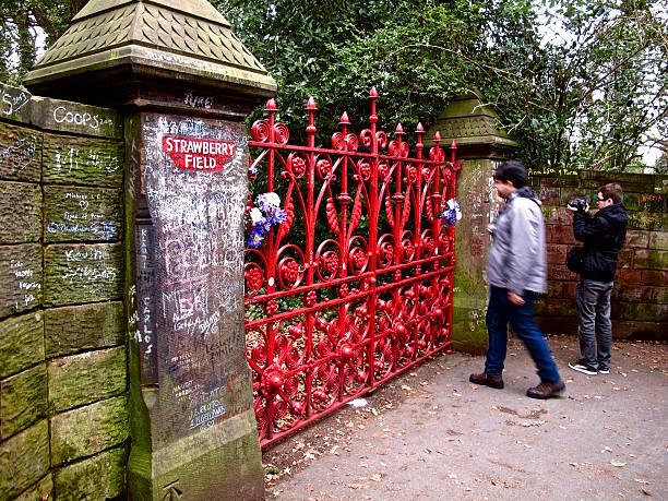 Campo di fragole Liverpool gates - foto stock