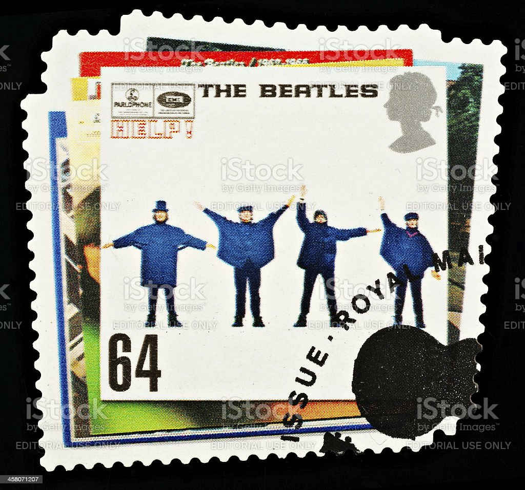 Beatles Pop Group Postage Stamp stock photo