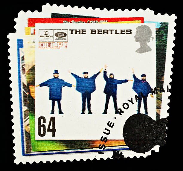 beatles pop-briefmarke - beatles band stock-fotos und bilder