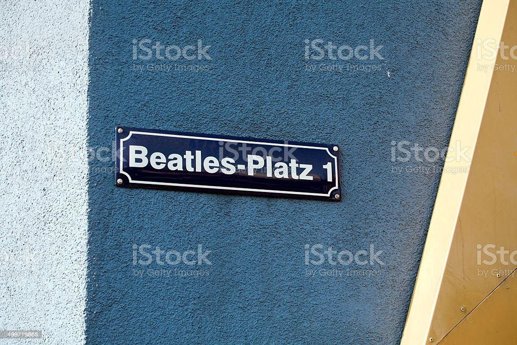 Beatles square on Reeperbahn street, Hamburg, Germany stock photo