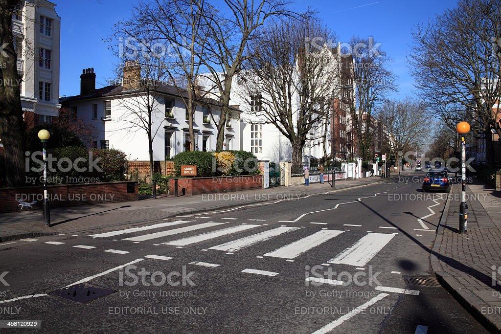 Beatles Zebra Crossing At Abbey Road Studios stock photo